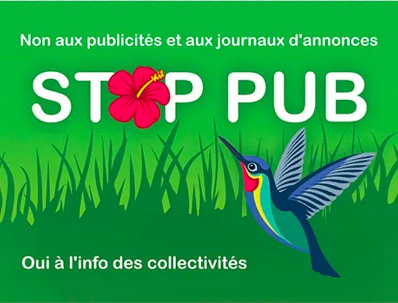 L'autocollant Stop Pub