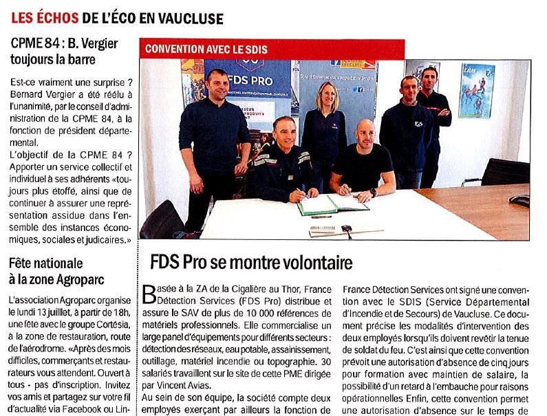 Article Vaucluse Hebdo