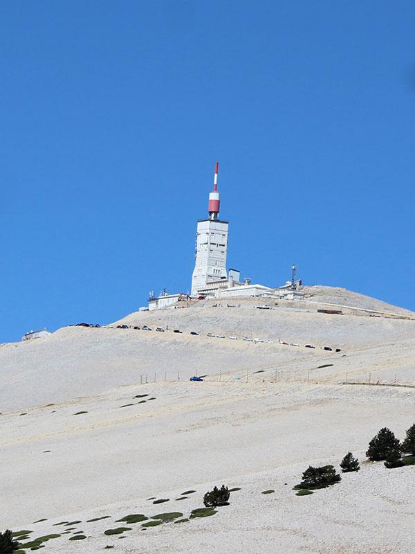 La montée du Mont Ventoux