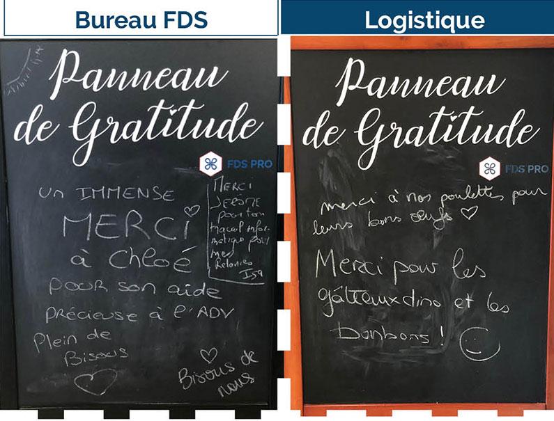 Les panneaux de gratitude chez FDS PRO